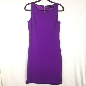 Tahari Yarden Sheath Dress in Violet Spectrum